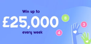 Win up to £25,000 in our Weekly Lottery!